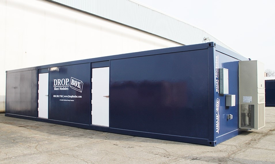 DropBox Inc, shipping container modifications, BRM, custom blast resistant modules, blast resistence, blast module, blast modules, blast resistant modules